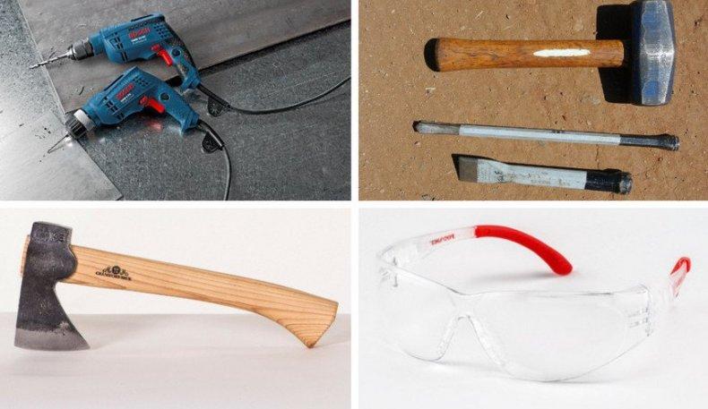 Инструменты для изготовления клумбы
