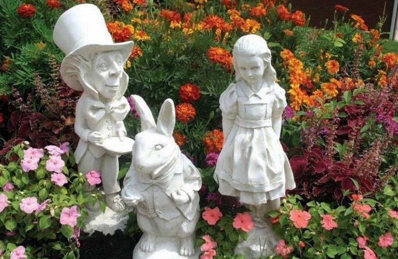 Садовые фигурки для пейзажного стиля