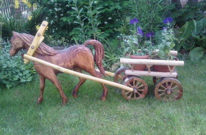 Садовая фигурка в деревенском стиле
