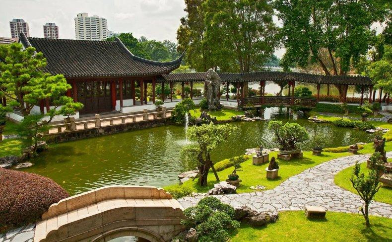 Черты ландшафтного дизайна в китайском стиле