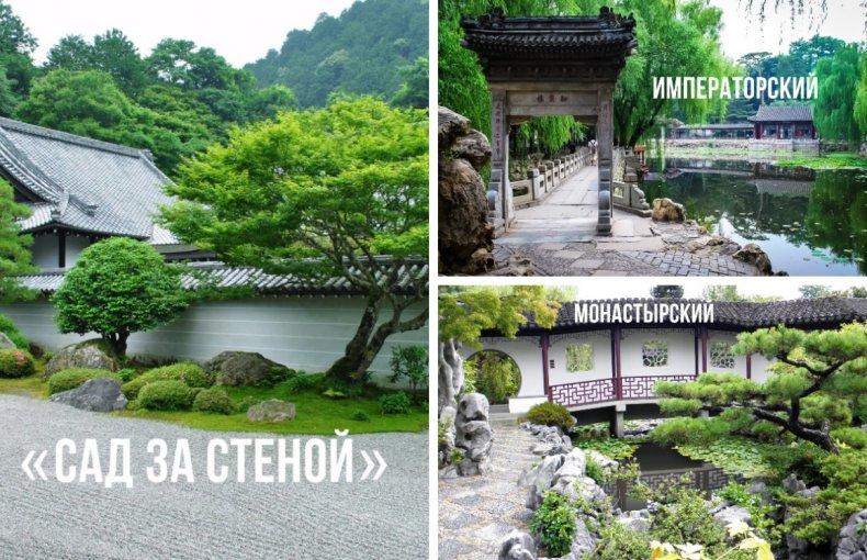 Типы китайских садов