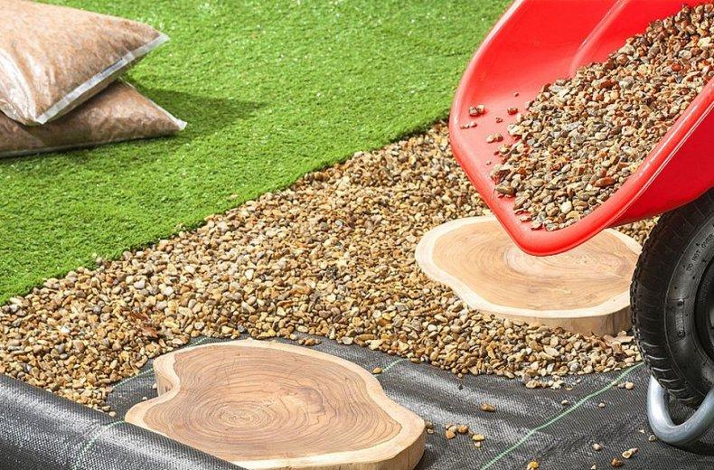 Геотекстиль для садовых дорожек