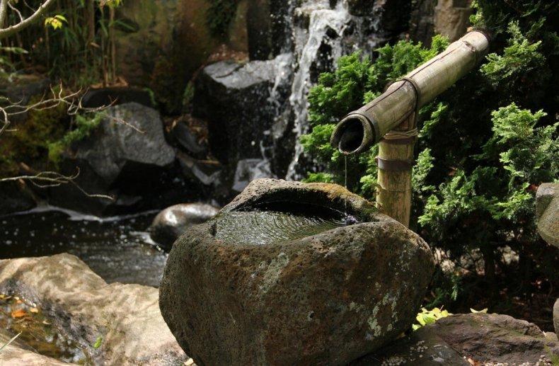 Тсукубаи в японском саду