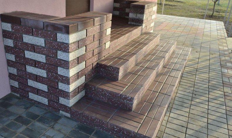Облицовка лестниц тротуарной плиткой