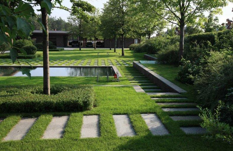 Садовые дорожки в стиле минимализм
