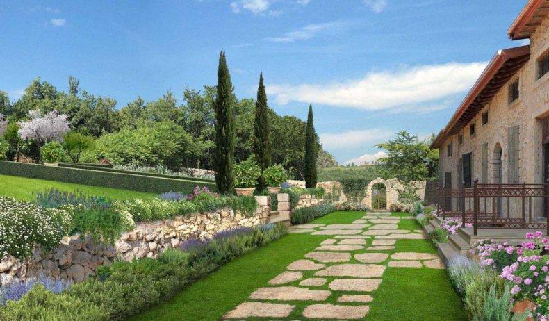 Дорожки в итальянском саду