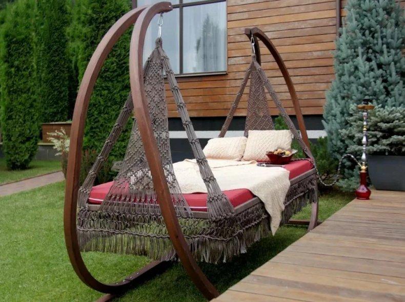 Текстиль для садовых качелей