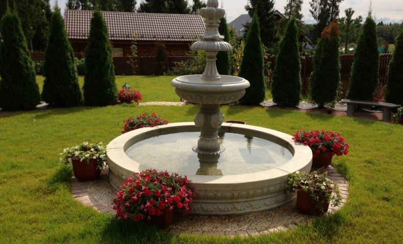 Дизайн фонтана на участке