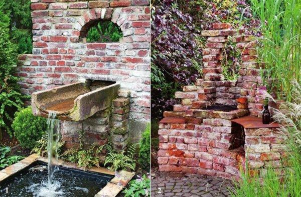 Использование старого кирпича в ландшафтном дизайне участка
