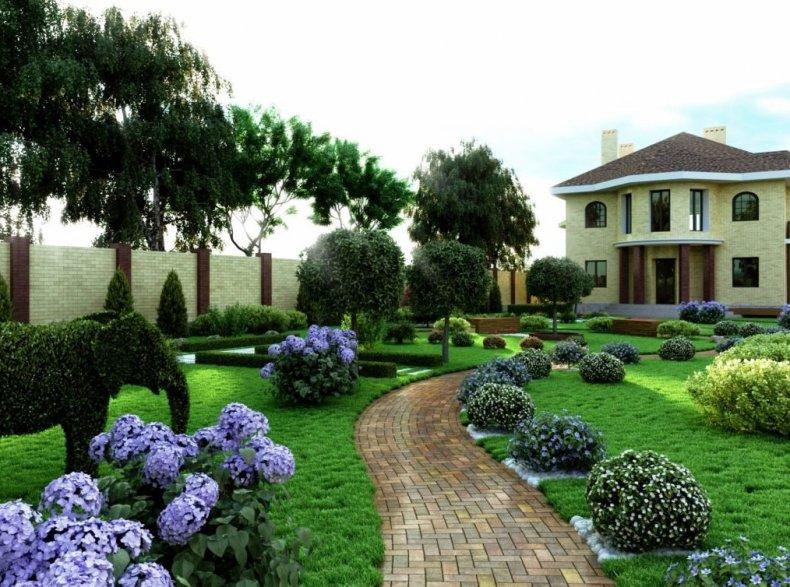 Коттеджный сад на участке