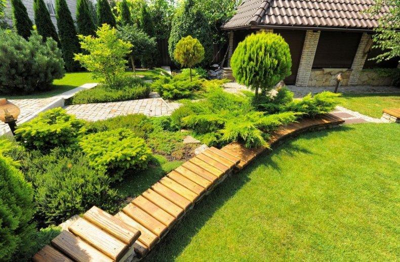 Озеленение большого участка
