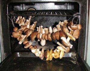 Сушка с использованием духовки