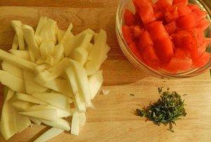 Салат из патиссонов со сладким перцем и помидорами
