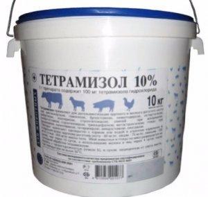 применение тетрамизола для свиней