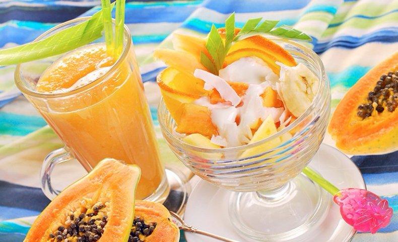 Десерт из папайи