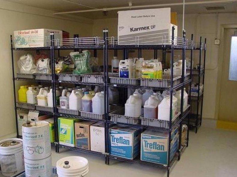 Хранение пестицидов