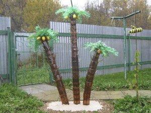 Пальмы из пластиковых бутылок