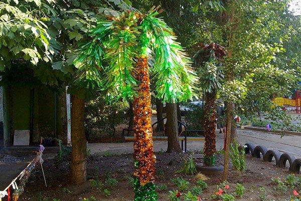 Как сделать пальму из бутылок инструкция фото 320