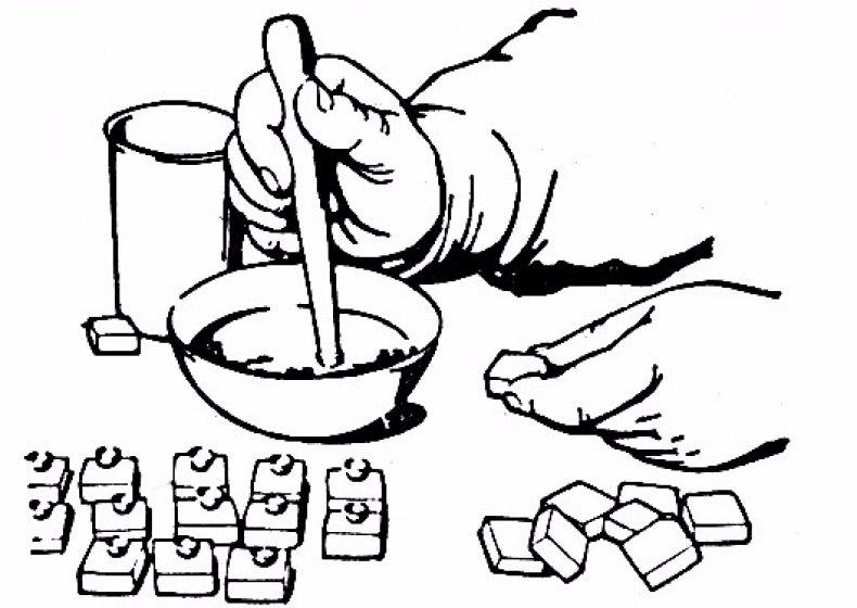 Изготовление восковых мисочек