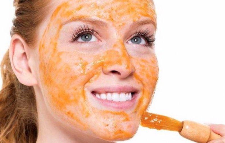 Персиковая маска для лица