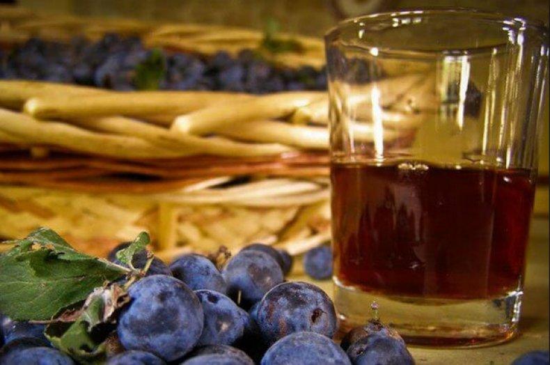 сливовый, вино, домашний, слив