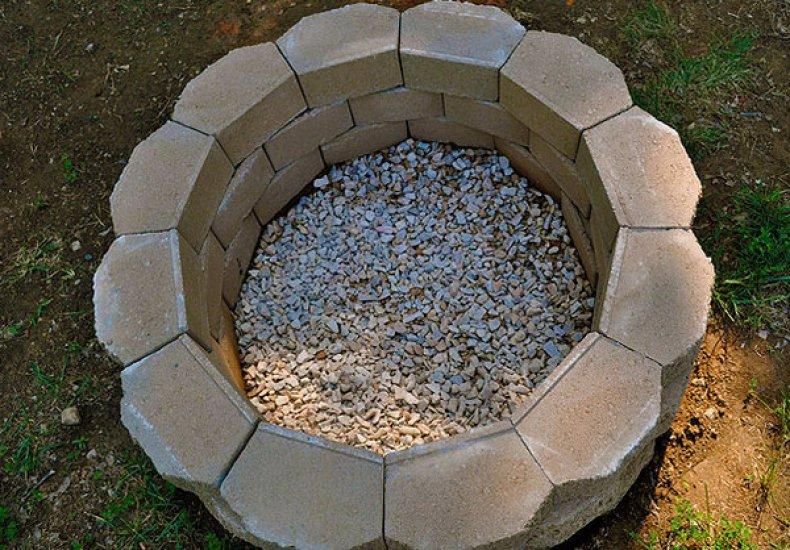 мангал, камень, чертеж, фото