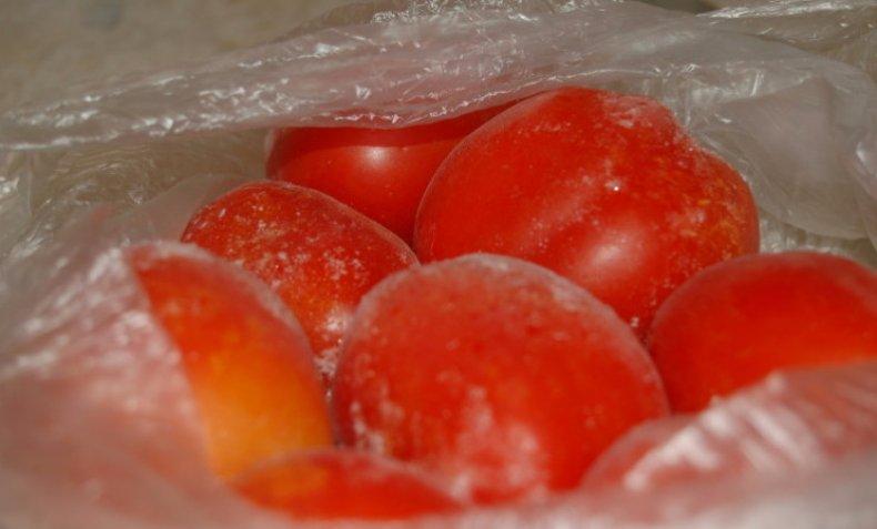Разморозка помидоров