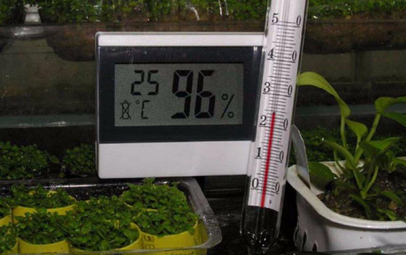 Показатели температуры и влажности