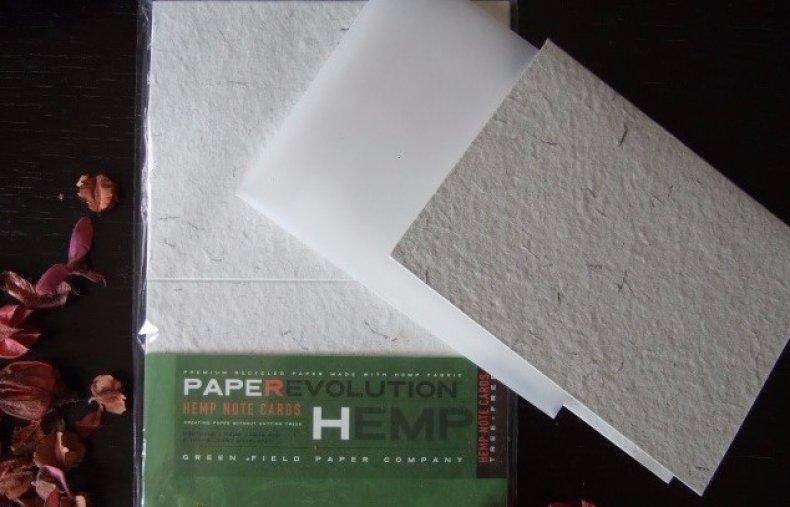 Бумага из дерева и конопли