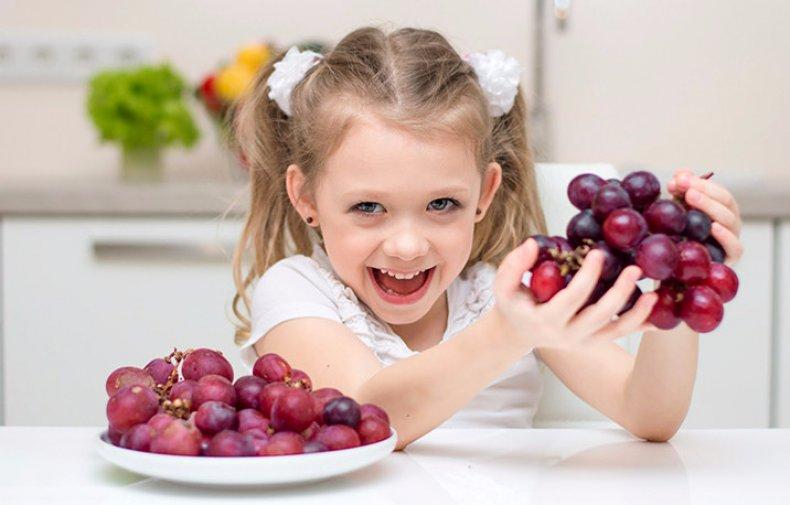Виноград для детей