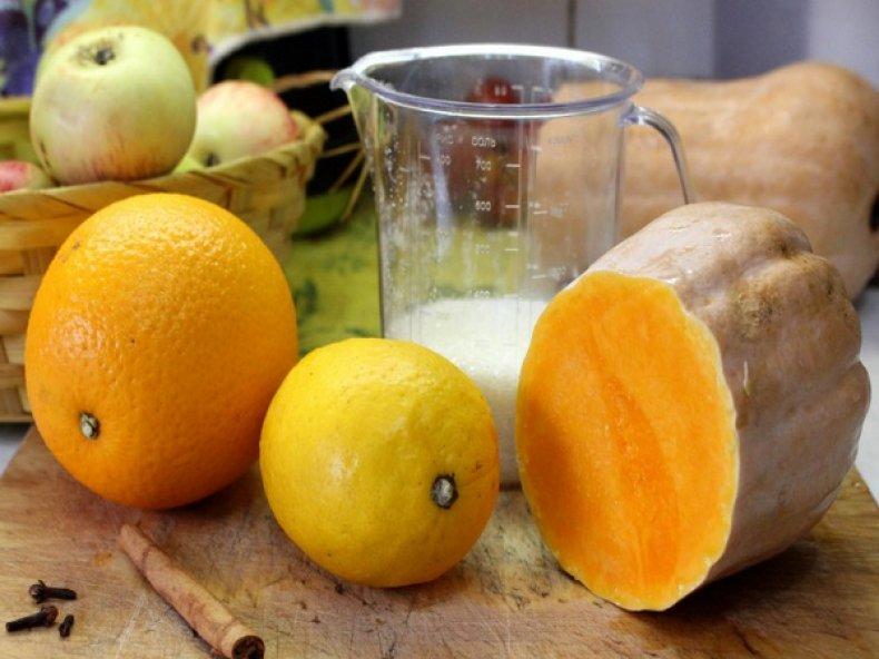 Ингредиенты для тыквенного варенья