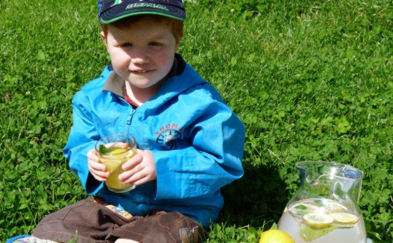 Лимонад с мелиссой для ребенка