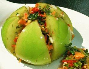 засолка зеленых помидор на зиму вкусные