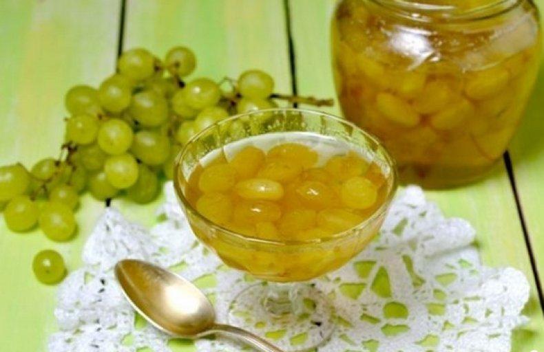 Варенье из белого винограда с лимоном