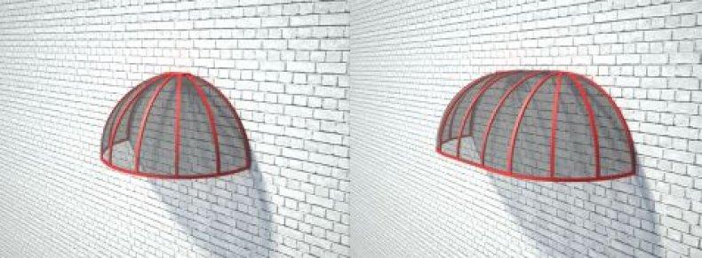 Навес в форме купола