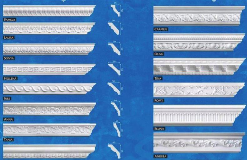 элементы из полистирола (полистирольного пенопласта)