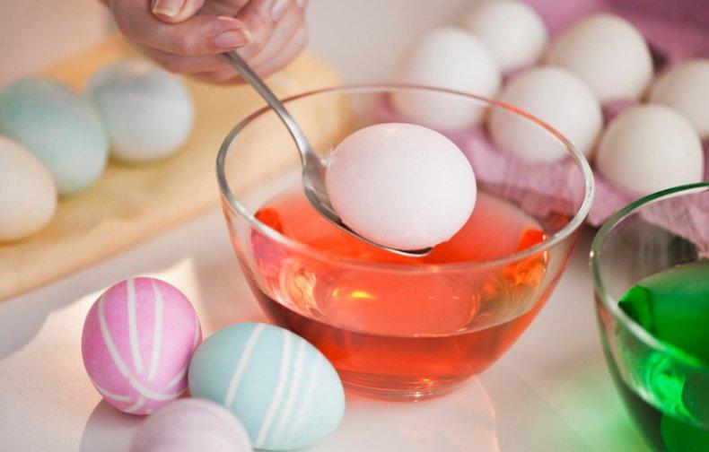 Пасхальные яйца, краситель