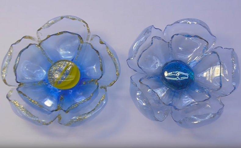 цветок, пластиковый, бутылка, самоделка, дача, фото