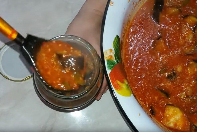 Баклажаны в томатной заливке на зиму пошаговый рецепт с фото и видео