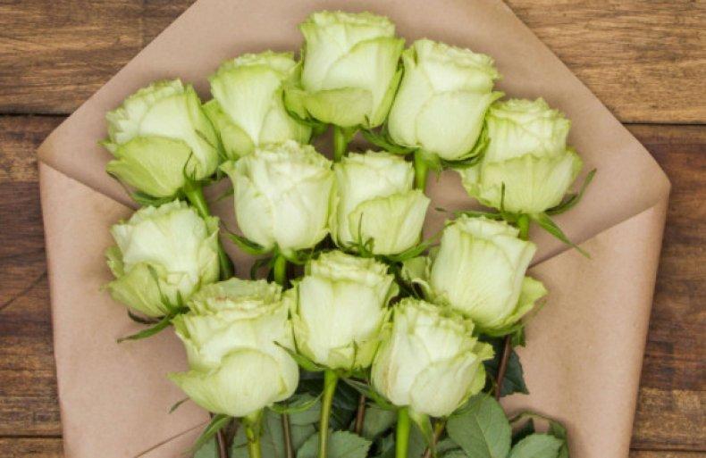Зелёные розы