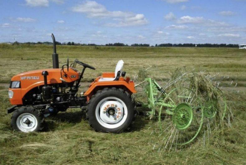 Грабли-ворошилки к мини трактору