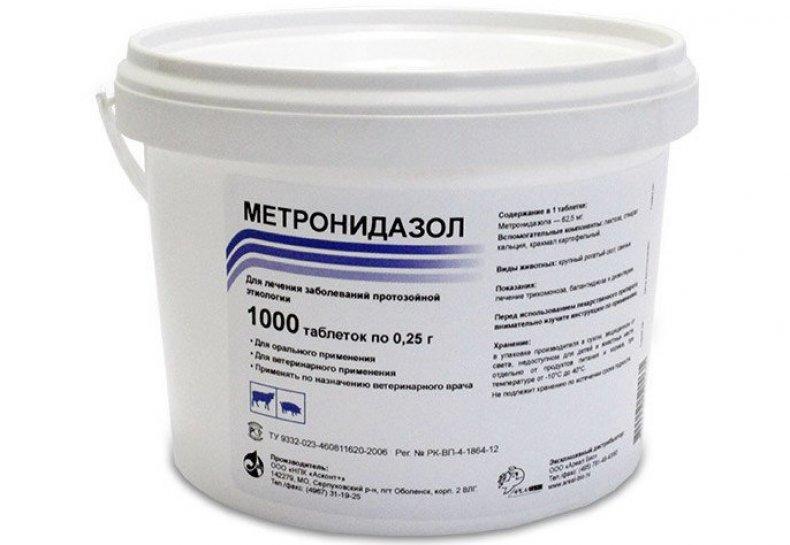 Метронидазол таблетки для птицы