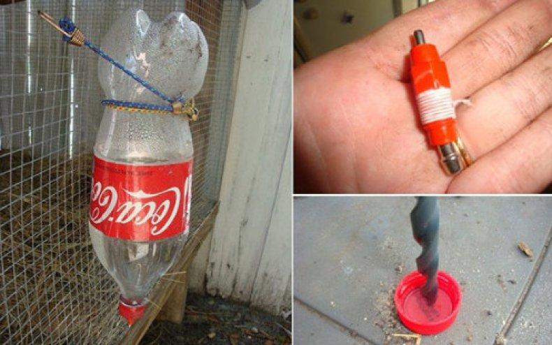 Ниппельная поилка из пластиковой бутылки