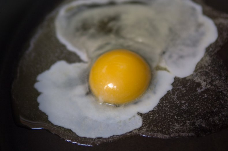 Жарка индюшиного яйца