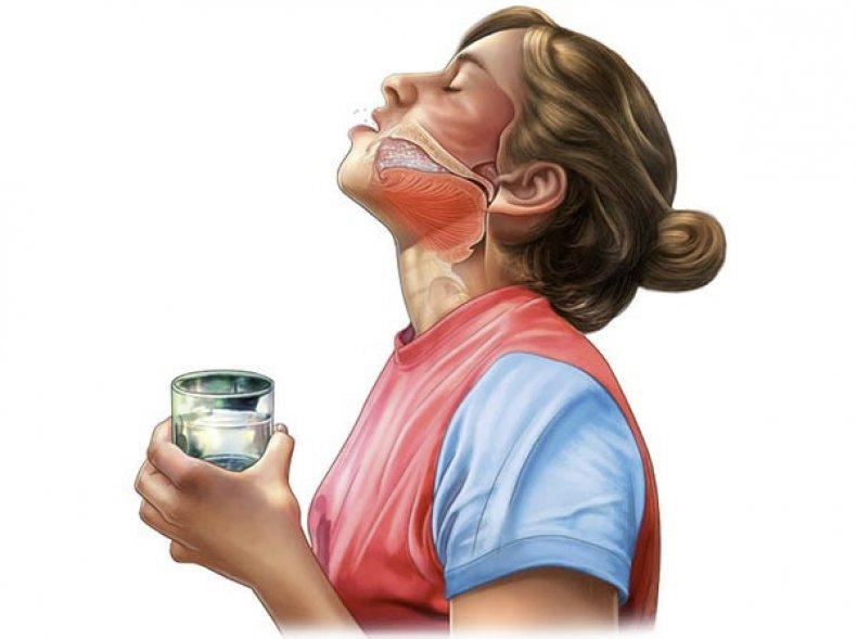 Полоскание горла прополисом