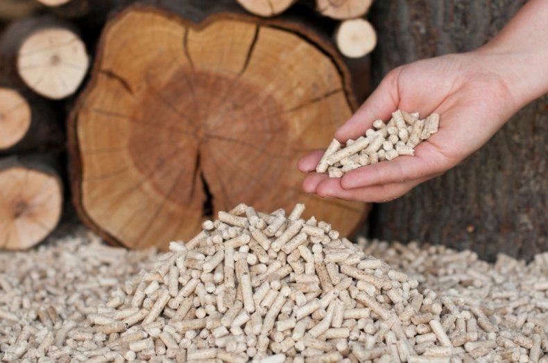 Гранулированные древесные опилки