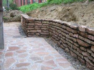Подпорные стенки из камня