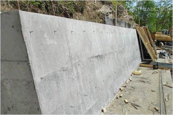 Как сделать подпорную стенку из бетона 9