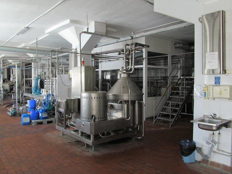 Промышленный сепаратор для молока