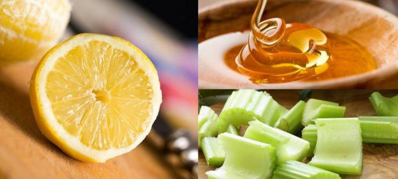 Лимон, мёд и сельдерей
